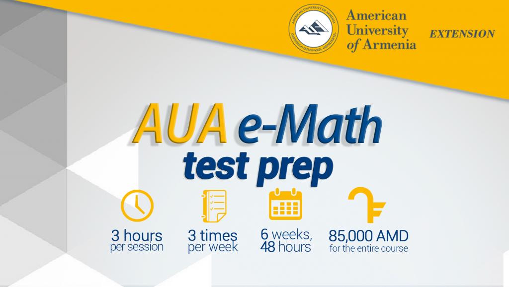 AUA E-Math Test Preparatory Course – AUA Extension